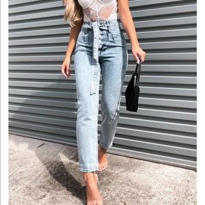 Whitefox Boutique Gimme More Tie Jeans